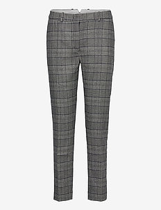D1. CHECKED CLASSIC TAPERED PANT - broeken med straight ben - evening blue