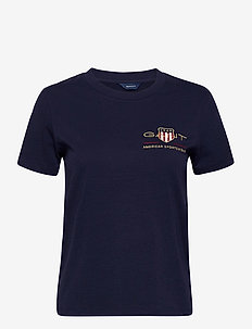 ARCHIVE SHIELD SS T-SHIRT - t-shirts - evening blue
