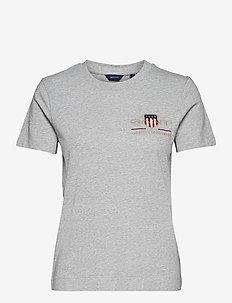 ARCHIVE SHIELD SS T-SHIRT - t-shirty - grey melange