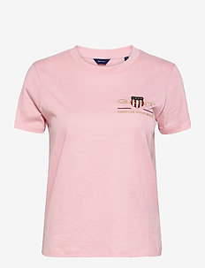 ARCHIVE SHIELD SS T-SHIRT - t-shirts - preppy pink