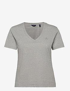 ORIGINAL V-NECK SS T-SHIRT - t-shirts - light grey melange