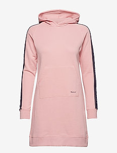 D1.GANT ARCHIVE SWEAT HOODIE DRESS - SUMMER ROSE
