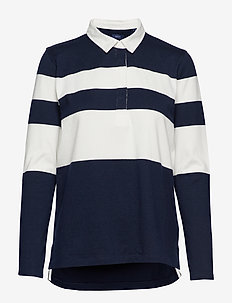 D1. STRIPED  HEAVY RUGGER - EVENING BLUE