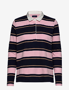 D1. STRIPED  HEAVY RUGGER - PREPPY PINK