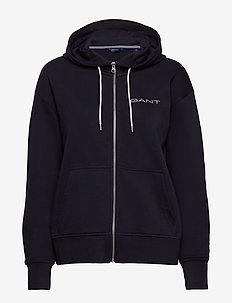 D1. 13 STRIPES FULL ZIP HOODIE - hettegensere - evening blue