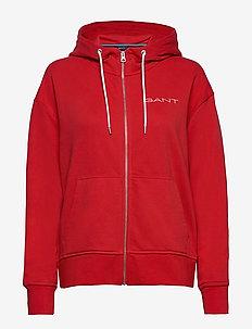 D1. 13 STRIPES FULL ZIP HOODIE - hoodies - fiery red