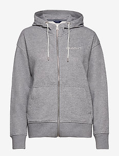 D1. 13 STRIPES FULL ZIP HOODIE - hoodies - grey melange