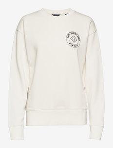 D2. SURF GRAPHIC C-NECK SWEAT - sportiska stila džemperi - mystic white