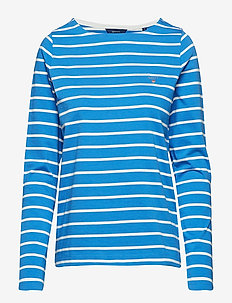 BRETON STRIPE BOATNECK JUMPER - PALACE BLUE