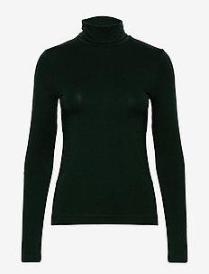 D2. TURTLENECK JERSEY LS - topy z długimi rękawami - tartan green