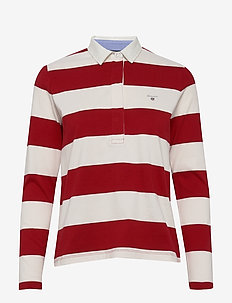 ORIGINAL BARSTRIPE HEAVY RUGGER LS - polo shirts - bright red