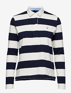 ORIGINAL BARSTRIPE HEAVY RUGGER LS - poloshirts - evening blue