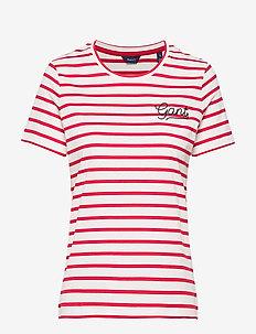 D1. BRETON STRIPE SS T-SHIRT - striped t-shirts - bright red