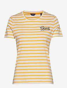 D1. BRETON STRIPE SS T-SHIRT - stribede t-shirts - warm sun