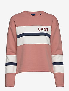 Gant Cable Knit V Neck Sweater Pink