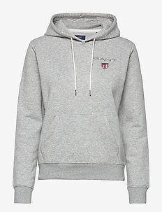 D1. MEDIUM SHIELD HOODIE - LIGHT GREY MELANGE