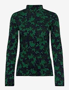 D1. SPLENDID JAQUARD TURTLENECK LS - langærmede toppe - ivy green