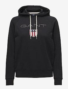 GANT SHIELD SWEAT HOODIE - BLACK