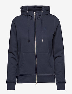 TONAL SHIELD FULL ZIP HOODIE - EVENING BLUE