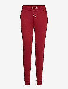TONAL SHIELD SWEAT PANTS - MAHOGNY RED