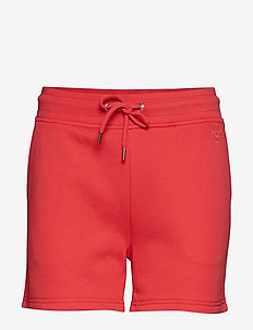 TONAL SHIELD SWEAT SHORTS - WATERMELON RED