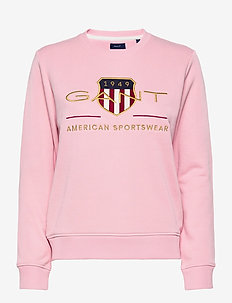 ARCHIVE SHIELD C-NECK SWEAT - sweatshirts - preppy pink