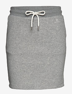 D1. GANT LOCK UP SWEAT SKIRT - korte nederdele - grey melange