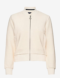D1. JERSEY STRUCTURE JACKET - sweatshirts - cream