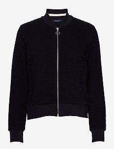 D1. JERSEY STRUCTURE JACKET - sweatshirts - evening blue
