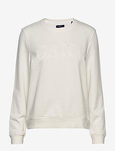 ARCH LOGO C-NECK SWEAT - sweatshirts - eggshell