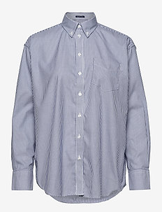 PPO OXF STRIPE RELAXED SHIRT - long-sleeved shirts - crisp blue