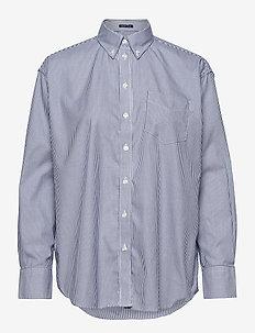PPO OXF STRIPE RELAXED SHIRT - koszule z długimi rękawami - crisp blue