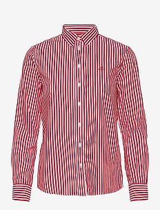 THE BROADCLOTH STRIPED SHIRT - långärmade skjortor - bright red