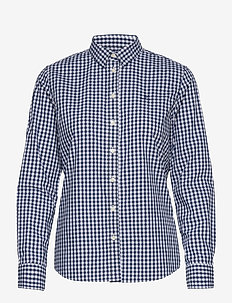 BROADCLOTH GINGHAM SHIRT - langærmede skjorter - persian blue