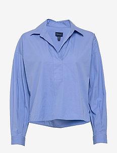 D1. POPOVER RUGGER SOLID SHIRT - overhemden met lange mouwen - lavender blue