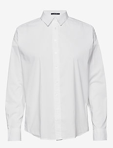 D1. TP BC OVERSIZED SOLID SHIRT - long-sleeved shirts - white