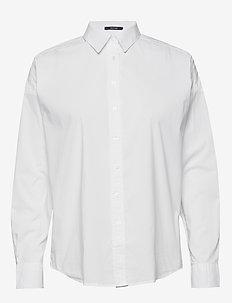 D1. TP BC OVERSIZED SOLID SHIRT - koszule z długimi rękawami - white