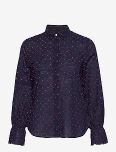 D1. SMOCK DOT DOBBY SHIRT - chemises à manches longues - classic blue
