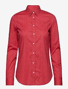 O1. MICRO FLORAL SHIRT - WATERMELON RED