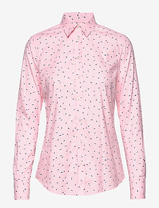 D2. LURE PRINTED STRETCH OXF SHIRT - CALIFORNIA PINK