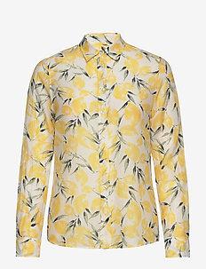 D2. LEMON COTTON SILK SHIRT - long-sleeved shirts - mimosa yellow