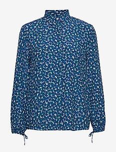 D1. DESERT ROSE VISCOSE SHIRT - long sleeved blouses - dark teal