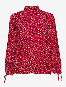 D1. DESERT ROSE VISCOSE SHIRT - långärmade blusar - rich pink