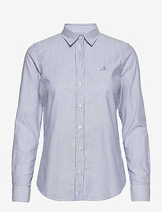 THE OXFORD BANKER SLIM SHIRT - langermede skjorter - nautical blue