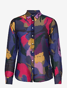 D1. SPLENDID FLORAL COT SILK SHIRT - chemises à manches longues - multicolor