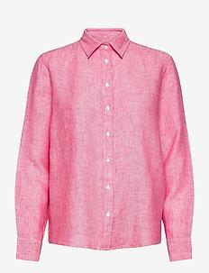 THE LINEN CHAMBRAY SHIRT - langærmede skjorter - watermelon red