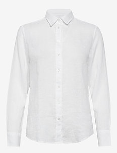 THE LINEN CHAMBRAY SHIRT - langærmede skjorter - white