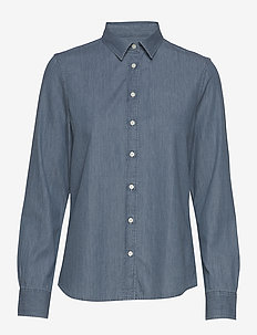D1. LUXURY CHAMBRAY - jeansblouses - light blue