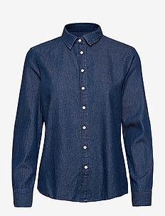 D1. LUXURY CHAMBRAY - jeansblouses - lt indigo