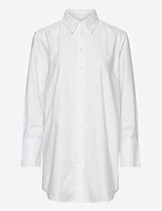 D1. GBP WHITE LONG SHIRT - langermede skjorter - white